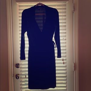 Boutique Wrap Tunic in Navy